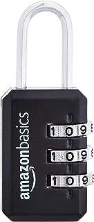 Amazon Basics AB-PL108 Cadenas pour bagage, Noir