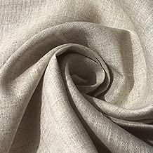 ハンドメイド用生地 150cm巾 リネン100% 無地 ナチュラル 薄地 R0052(旧品番 N-250)