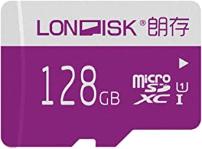 LONDISK 128GB Mirco SD Card Class 10 UHS-I Micro SDXC Memory Card with SD Adapter for HD Video Play(U1 128GB)