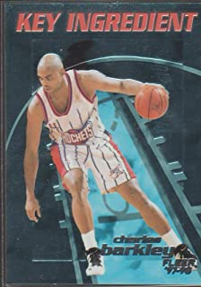 1997-98 Fleer Charles Barkley Rockets Key Ingredient Insert Basketball Card #1