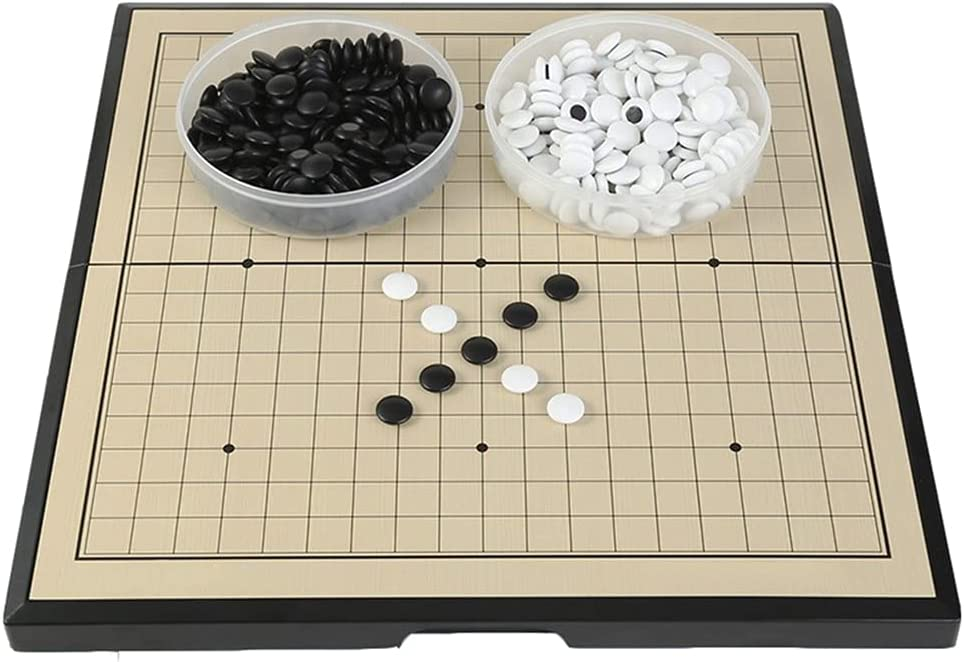 KUOPE Beginner Go Set Magnetic Arlington Mall Plastic Game with Stones Large discharge sale P