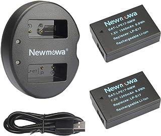 LP-E17 Newmowa 互換バッテリー 2個 + 充電器 対応機種 Canon LP-E17 Canon EOS M3 M5 M6 200D 750D 760D 800D Rebel T6i T6s 8000D 9000D Kiss X8i Kiss X9 (ハーフデコード)