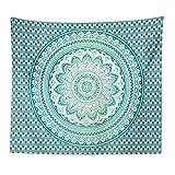 Tapiz de mandala psicodélico tapiz hippie colgante de pared fondo para el hogar tapiz de mandala manta de tela A4 180x230cm