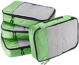 AmazonBasics Mittelgroße Kleidertaschen, 4 Stück, Grün