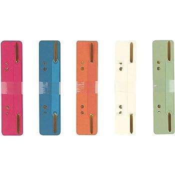 aus Recycling-Karton in 5 Farben 25 Stück Heftstreifen-Abheftstreifen kurz