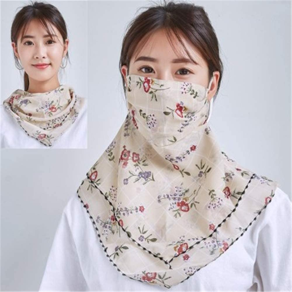 Fashion Face Scarf Mask Printed Scarf Cool Lightweight Summer Protection Scarf Bandana UV Protective for Outdoor
