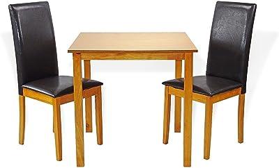 Amazon.com: IKEA mesa y 4 sillas, negro, nolhaga gray-beige ...
