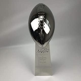 Autographed/Signed Nick Foles Full Size F/S Replica Super Bowl 52 LII Lombardi Trophy Philadelphia Eagles Beckett BAS COA