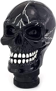 Thruifo Skull MT Car Stick Shifter, Small Teeth Devil Head Style Gear Shift Knob Fit Most Manual Automatic Vehicles, Black