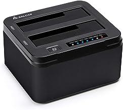 SALCAR Base de conexión Aluminium USB 3.0 Offline clonación para Discos Duros SATA HDD/SSD 2,5 y 3,5
