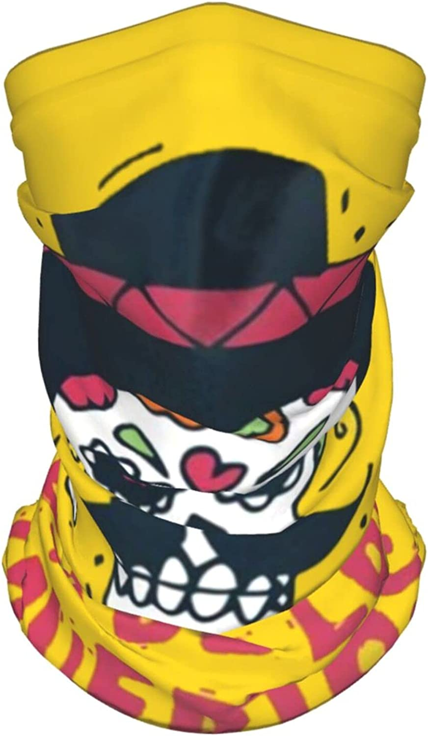 Day Dead Mexican Human Skull Sombreros Holidays Art Summer Ice Silk Breathable Face Mask Neck Gaiter Scarf Bandanas for Fishing,Hiking,Running,Motorcycle and Daily Wear