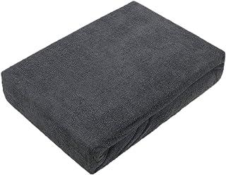 Exklusiv Heimtextil Drap-housse en tissu éponge de qualité supérieure, anthracite, 90 - 100 x 200 cm