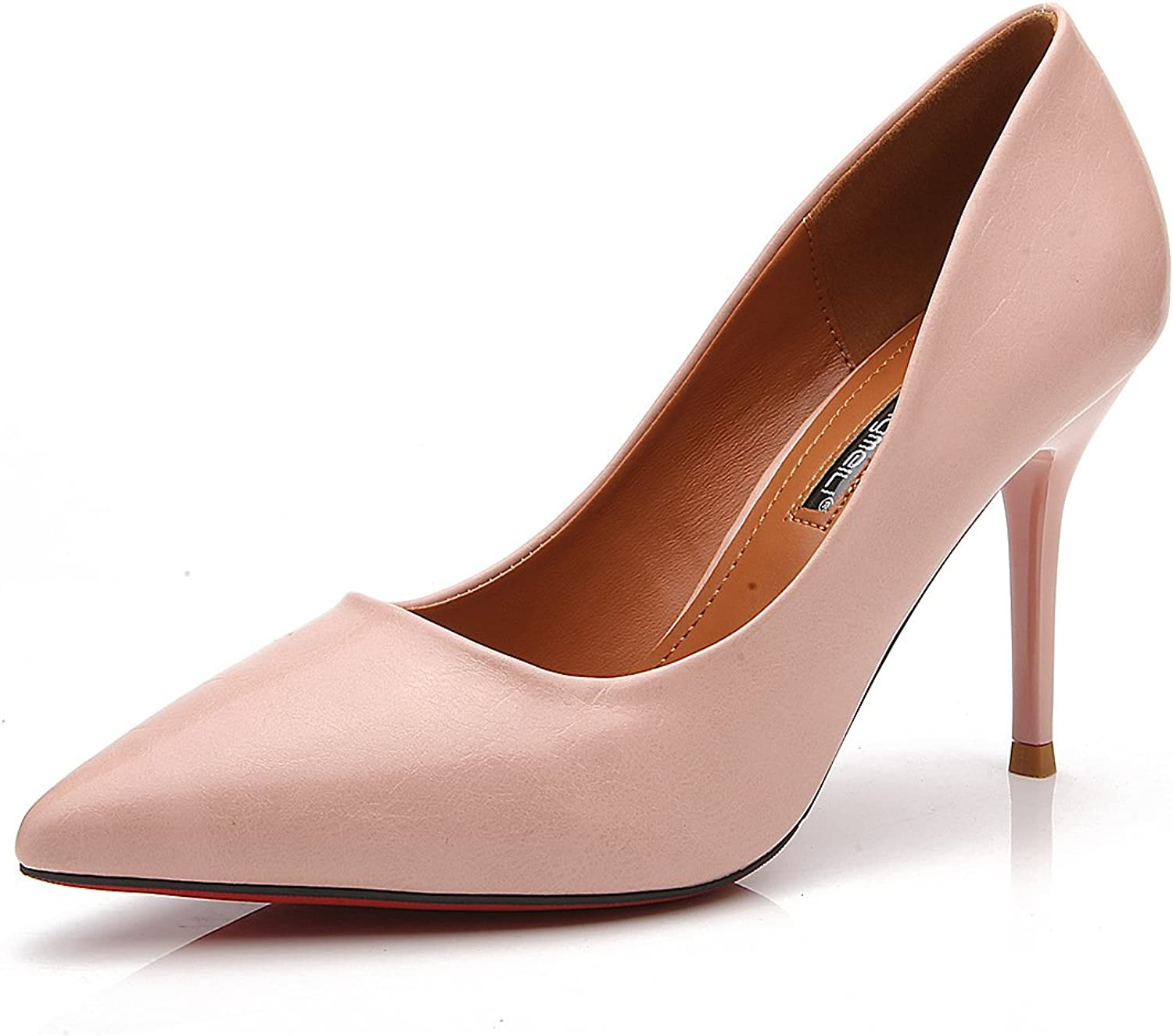 Meiren Shallow Mouth Stiletto Heels Pointed Single shoes