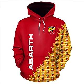 Natshop2000 Abarth Fiat Auto Sweat /à Capuche zipp/é avec Logo brod/é de qualit/é sup/érieure 9096