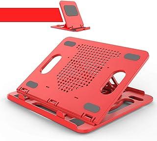Ordenador portátil soporta base del equipo que cuelgan de escritorio Elevación y levantamiento de soporte de tres pliegues, soporte ajustable Base portátil plegable del radiador vertical del cojín del