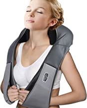 Shiatsu Neck Shoulder Massager with Heat of Ohuhu, Electric Back Massage Pillow with 3D Kneading Deep Tissue for Foot, Legs - Electronic Full Body Massage, Relieve Muscle Pain - Home & Car Office