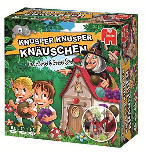 Jumbo Spiele - Knusper Knusper Knäuschen - Kinderspiel mit Hänsel und Gretel - Ab 4 Jahren - Art. Nr. 19713