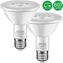 MINGER 10W Dusk to Dawn PAR30 LED Bulb Light, Auto Turn On Off, 60W Equivalent, 800 Lumens Soft White 3000K, E27 Base, 120°Beam Angle Spotlight, for Indoor and Outdoor 2 Pack