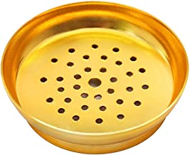 8.1cm Metal Portable Tobacco Hookah Carbon Holder Shisha Charcoal Rack Nargile Accessories Lighters & Smoking Supplies-Golden