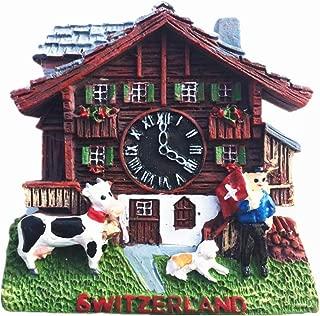 Cuckoo Clock Style Switzerland 3D Fridge Magnet Tourist Souvenir Gift Home & Kitchen Decoration Magnetic Sticker Switzerland Refrigerator Magnet Collection
