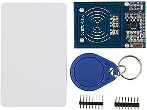 HiLetgo RFID Kit - Mifare RC522 RF IC Card Sensor Module + S50 Blank Card + Key Ring for Arduino Raspberry Pi