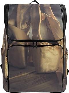 DEZIRO Mochila de viaje para zapatos de ballet antiguos, mochila escolar multifuncional para mujeres y hombres, 19 x 14 x 7 pulgadas