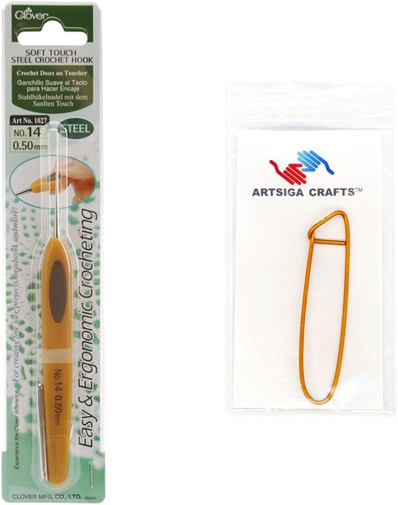 Gifts Clover Cheap sale Needlecraft Soft Touch Steel Crochet Hook .5mm 14 Bu Size