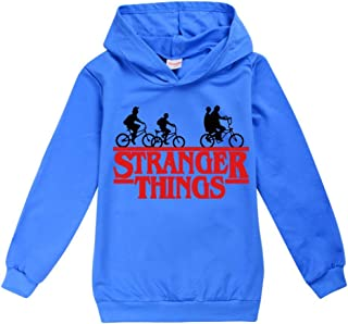 Chicas Stranger Things Sudadera con capucha Unisex Jersey largo Lseeve Top 3-15 años