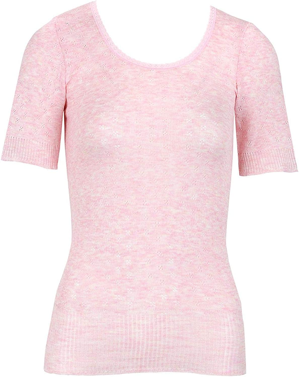 Frooty Ladies Thermal Vest Short Sleeve Spencer Womens Cosy Warm Stretch Breathable Underwear Lingerie UK Size 10-14