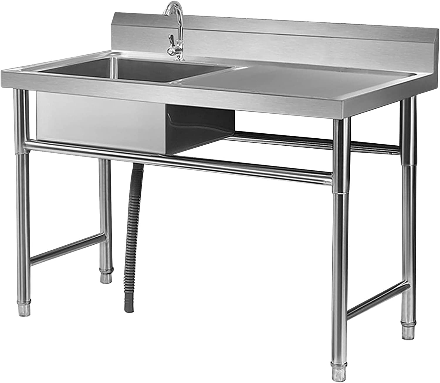 Attention brand Free Standing Max 63% OFF Utility Sink Stainless Commercial Steel Kitchen S
