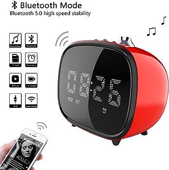 BETNEW Alarm Clock Wireless Bluetooth Speaker