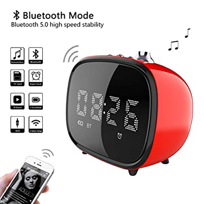 BETNEW Alarm Clock Wireless Bluetooth Speaker