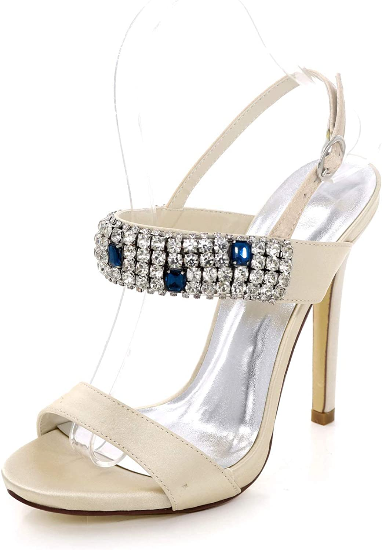 LLBubble LLBubble LLBubble Woherrar High klackar Open Toe kristaller bröllop Sandals Ankle Buckle Strap Formal Prom Evening Party Sandals 7216 -10  bra erbjudanden