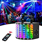 LaluceNatz DJ Lights, 30W Professional Colorful DJ Lighting Effect, Portable Stage Light Sound Activated with DMX/Remote Control for Party, Wedding, Birthday, Dance, Festivals, Stage Lighting