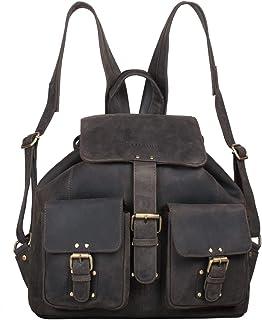 STILORD 'Larissa' Vintage Rucksack Leder Damen Rucksackhandtasche Lederrucksack Handtasche DIN A4 City Shopping Daypack Sc...
