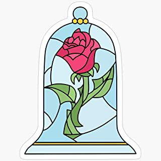 BeliNZStore Beauty and The Beast Rose Stickers (3 Pcs/Pack)