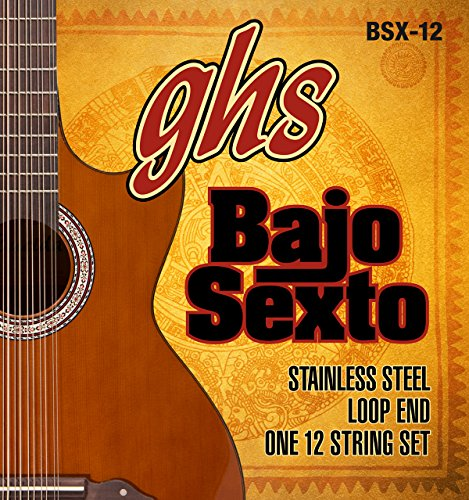 GHS BSX 12 Bajo Sexto Loop End Set () Stainless Steel Round de 12 cuerdas Wound
