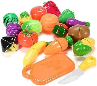 فانسلان طقم العاب الطعام للاطفال، 18 قطعة لعبة تظاهر بقطع الطعام والخضروات