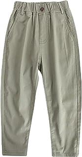 ZRFNFMA Pantalones Casuales de la luz de los niños de la Ropa de los niños y de los niños, Pantalones de Color Claro de Mo...