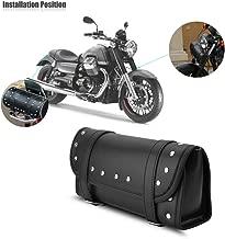 DLLL motocicleta herramienta de la horquilla motocicleta moto delantera y trasera de piel sintética negro Funda bolsa manillar bolsas equipaje bolsa de sillín para Ducati KTM