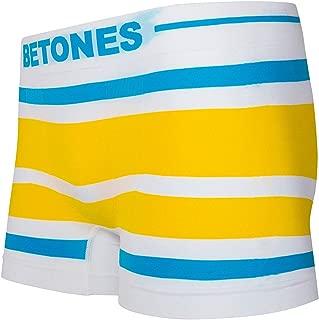 BETONES (ビトーンズ) メンズ ボクサーパンツ AKER EMERALD/YELLOW dwearsステッカー入り ローライズ アンダーウェア 無地 ブランド 男性 下着 誕生日 プレゼント