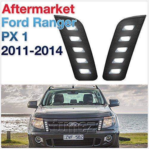 TUNEZ® Grill Vorderseite LED Tagfahrlicht DRL Antriebsleuchten kompatibel mit Ranger T6 MK 1 2013 2014 2015