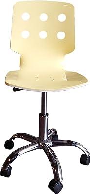 Diseño Twist Silla Juego de 2 sillas, plástico/Metal, Blanco/Amarillo,