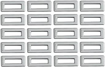 ZaZaTool 20 Pcs Chrome Switch Dash Light Indicator Covers 1-1/16 x 1/2 for Peterbilt Trucks