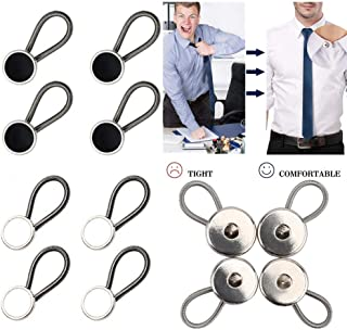 12 PCS Metal Collar Extenders, Elastic Dress Shirt Neck Extender, Comfy & Premium Shirt Extenders for Dress Shirts