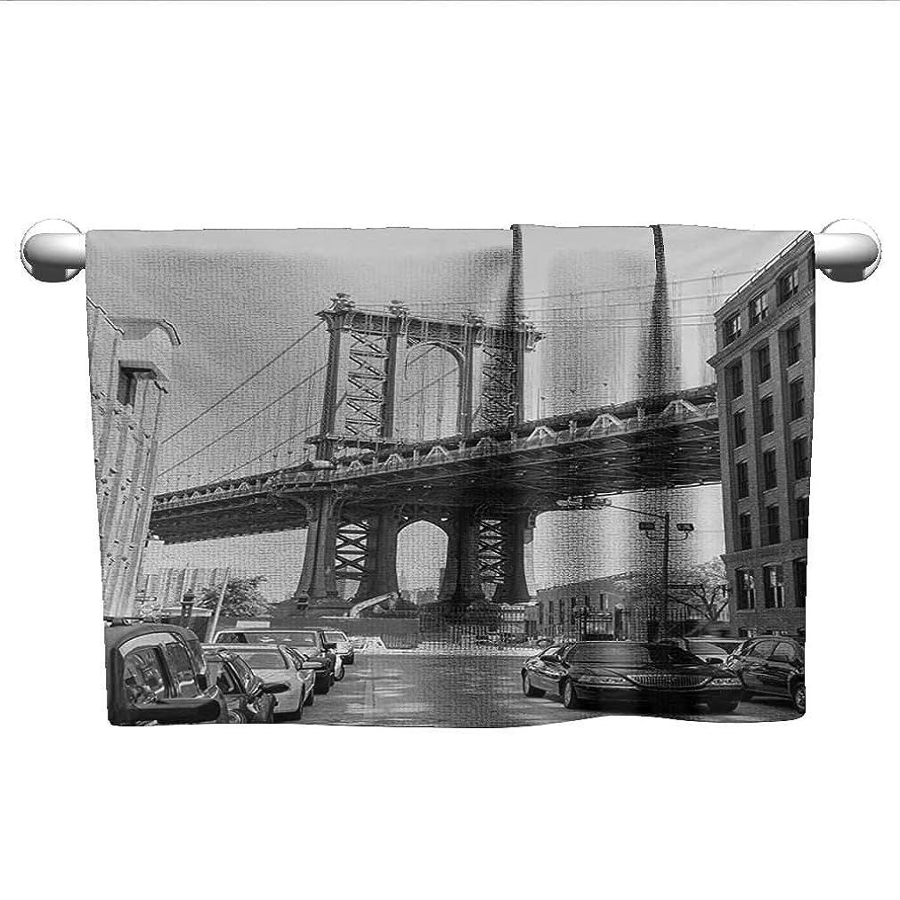 ストローク法王まぶしさBrooklyn New York USA ランドマーク ブリッジ ストリート 車 写真 ブラック ホワイト チャコール グレー 自立式タオルラック バスルーム用
