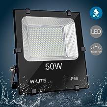 LED Foco exterior   Foco proyector led   Foco impermeable instalación de césped   50W 4500LM   Voltaje de entrada 86-265V