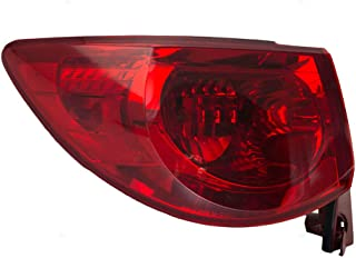 Drivers Taillight Quarter Panel Mounted Tail Lamp Replacement for 09-12 Chevrolet Traverse 15912687 AutoAndArt