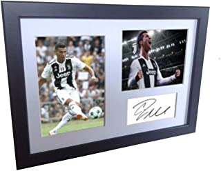 A4 12x8 Cristiano Ronaldo Juventus - Autographed Soccer Photo Photograph Picture Frame Poster