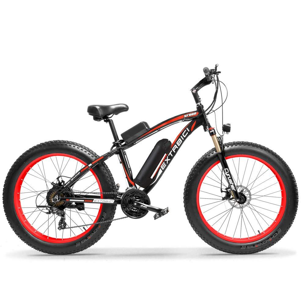 Cyrusher® Extrbici XF660 48V 500 vatios Negro Rojo Mens Bicicleta ...